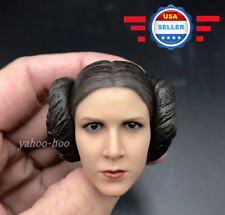 """1//6 Woman Head Princess Leia Fire A014 Carved Sculpt Model Fit 12/"""" Action Doll"""