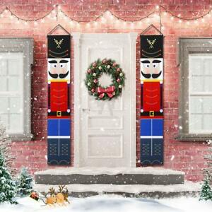 Christmas Soldier Nutcracker Banners Knight Banners Xmas Couplet Door Curtain Ebay