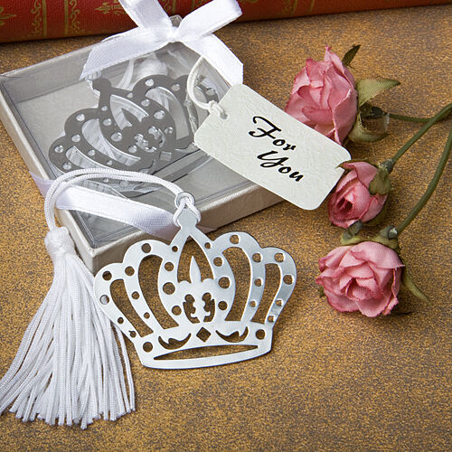 50 Crown Crown Crown Design Bookmark Favors Wedding Favor Bridal Shower Birthday Sweet 16 cde0fc