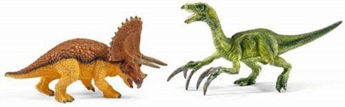 Schleich 42217 Triceratops and Therizinosaurus Set Prehistoric World