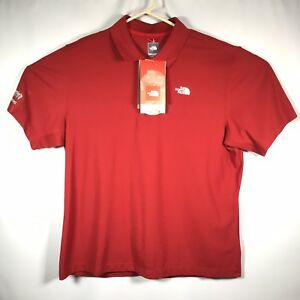 The-North-Face-Mens-XL-Red-Polo-Shirt-Red-Sleeve-Cool-Max-St-Martins-University