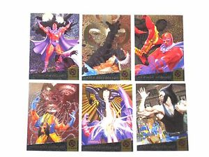 1994-Fleer-Ultra-X-Men-FATAL-ATTRACTIONS-INSERT-chase-6-CARD-Set-WOLVERINE