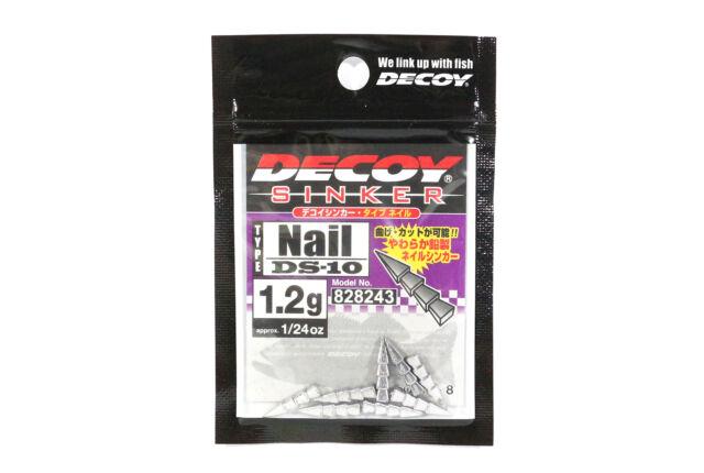 51562 DS-10 8pcs 828243 1//24oz DECOY Sinker Type Nail 1.2g