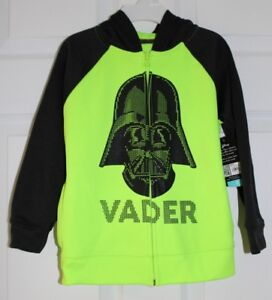 686783295f74 BOYS SZ 5 DARTH VADER THEMED HOODED ZIP FRONT SWEATSHIRT by DISNEY ...