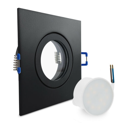 LED Einbaustrahler Feuchtraum Schwarz geringe Tiefe flach 25mm Spot IP44 230V