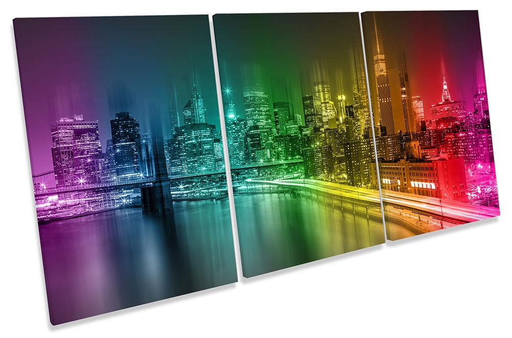 ASTRATTO NEW YORK Rainbow art. art. art. A Muro Immagine Stampa degli acuti 2eb44d