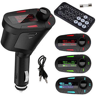 Top MP3 Player Wireless FM Transmitter Modulator Car Kit  USB SD LCD Remote Blue