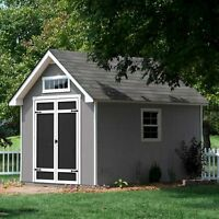 Everton 8 Ft. X 12 Ft. Deluxe Wood Shed, 740 Cubic Feet Of Storage, No Tax