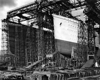 8x10 Photo: Sister Ships Olympic And Titanic During Construction