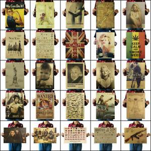 Kraft-Paper-Poster-Room-Wall-Decor-Living-Room-Bedroom-Nostalgic-Playbill-Retro
