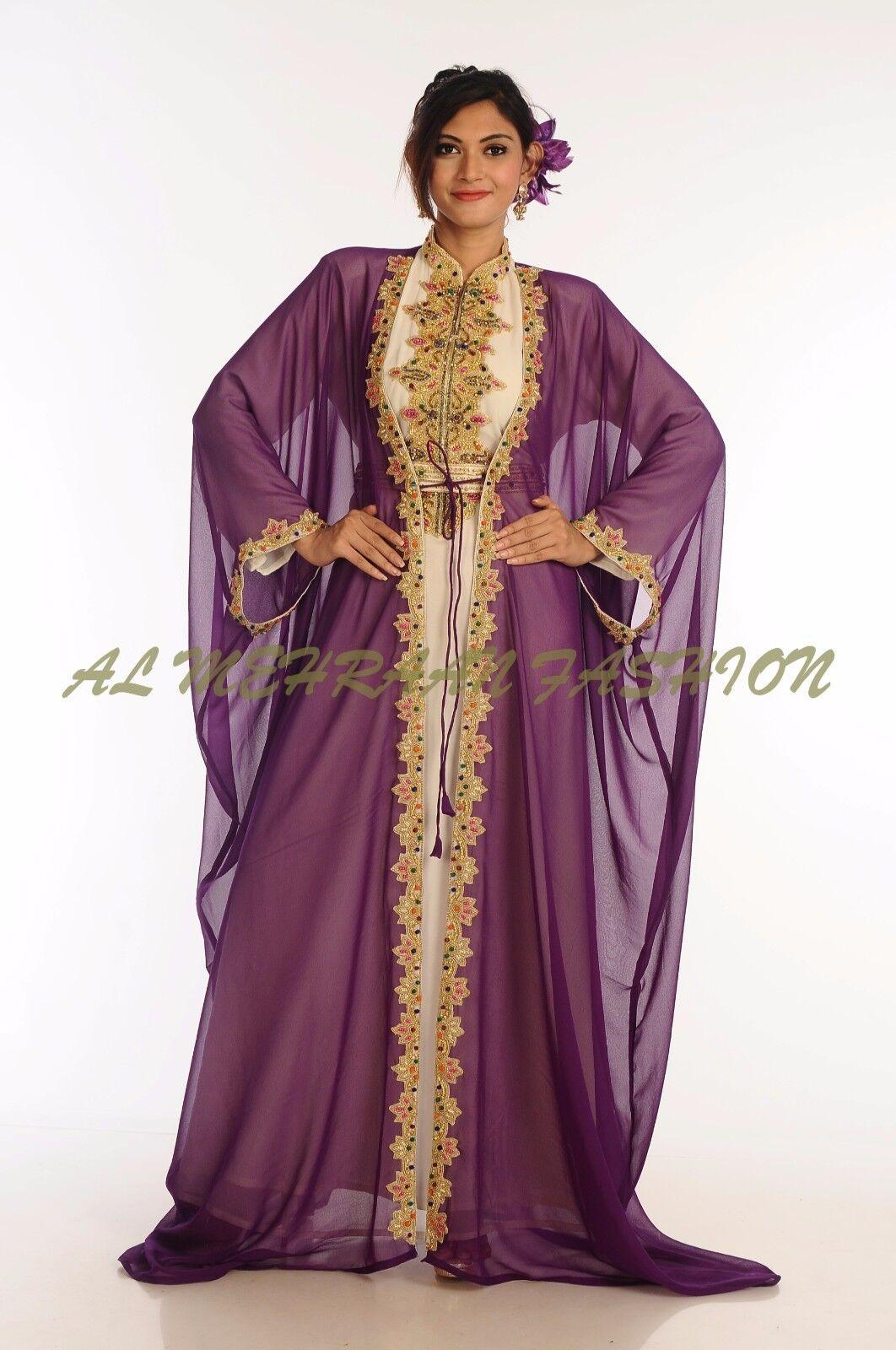 MgoldCCAN FANCY JILBAB ARABIAN GOWN BY AL AL AL MEHRAAN FASHION FOR WOMEN DRESS  6008 f3f977