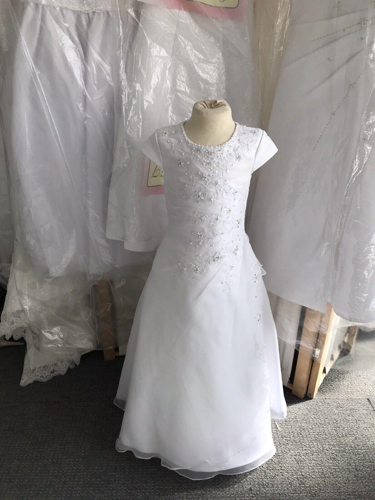 Flower Girl Dress 6 Years White Linzi Jay New