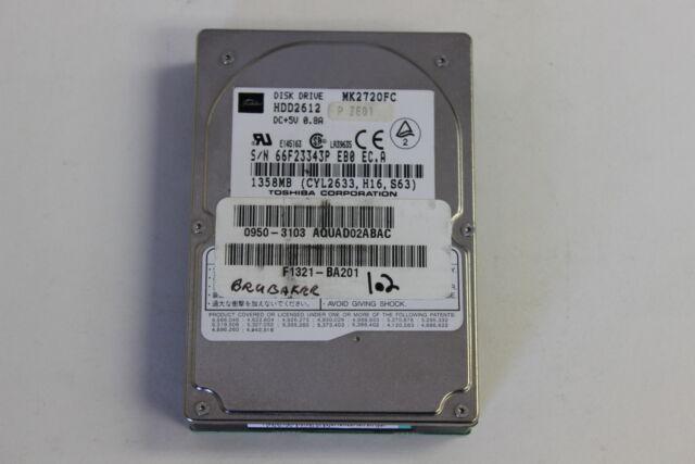 TOSHIBA MK2720FC 1.35GB 2.5 IDE HARD DRIVE WITH WARRANTY