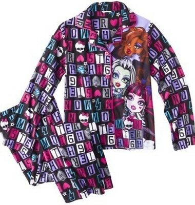 MONSTER HIGH GIRLS PAJAMAS SET NEW  with tags SIZE 10/12 Sleepwear New With Tags