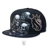 Og Abel Ogabel Men's See No Snapback Hat Black Skull Drinking Baseball Cap Stree on Sale