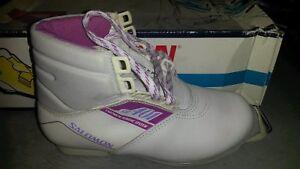 Chaussure ski de fond Cuir Salomon Sr401 Taille 44 Boots/stivali Sci/esqui SNS