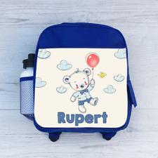 2f916bf1eec1 Personalised Year 3 Three Teddy Bear Girls Kids Backpack Childrens ...