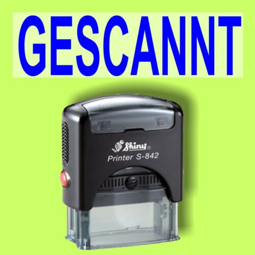 GESCANNT Shiny Printer Schwarz S-842 Büro Stempel Kissen Blau
