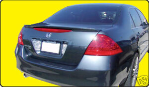 PAINTED TO MATCH REAR WING SPOILER FOR A HONDA ACCORD 4-DOOR FACTORY 2006-2007