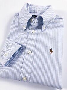 Ralph-Lauren-chemise-femme-Harper-Oxford-Bleu-Powder-a-rayures-Ajustement-personnalise