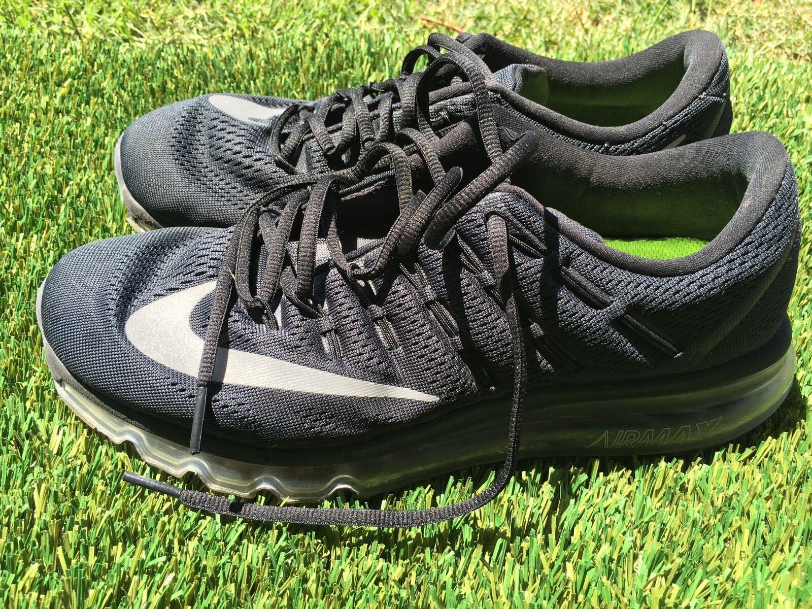 Mens Nike Air Max 2018 806771-001 Black Running Shoes Size 8.5