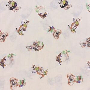 Australiana-Animals-Cotton-Blend-Sheet-Fabric-Koala-Signed-Trish-Hart