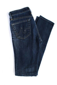 AG-Adriano-Goldschmied-Womens-Dark-Wash-Skinny-Straight-Jeans-Blue-Cotton-26