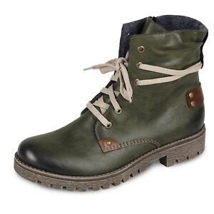 Details zu Rieker Damen Stiefelette Schnürschuh Winnterschuh Boots Stiefel Schuh Kunstleder