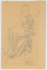 """""""Study of a Woman"""", drawing by Hans Strohofer (1885-1961), ca.1930"""