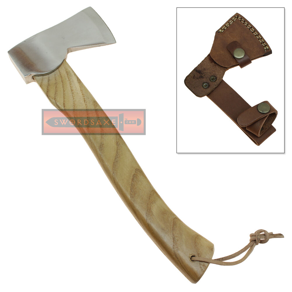 Camping & Hunting Viking Axe Handmade Stainless Steel Hiking Hatchet Tool Wood