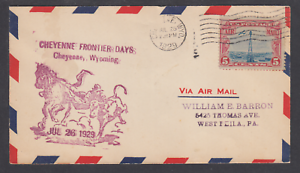 1929-33rd-Annual-Cheyenne-Wyoming-Frontier-Days-July-26-1929-air-mail-cover
