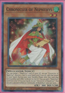 Super Rare Chronicler of Nephthys HISU-EN003 1st Edition Yugioh