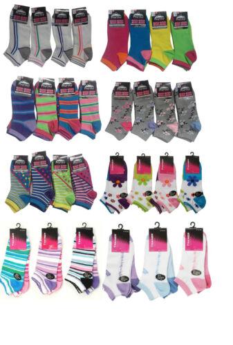 6 Pairs Ladies Trainer Socks Women Funky Designs Girls Liner Sports Adults