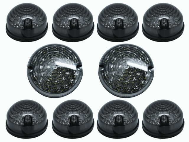 LAND ROVER DEFENDER NAS STYLE LED UPGRADE FRONT LAMP KIT OEM WIPAC DA1274