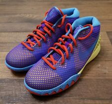 c4915d8caa4e Boys Nike Kyrie 1 GS Saturdays 717219-700 Lemon Frost Hyper Grape Blue Red  6.5