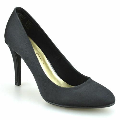 Femme Stiletto Noir Slip-on Low Mi Talon Haut Bureau Casual court Smart Chaussures