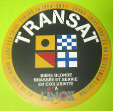 TRANSAT BIERE BLONDE Beer COASTER, MAT, Quebec, CANADA