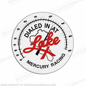 """Mercury Racing /""""Dialed in at Lake X/"""" Decal Pick Size!"""
