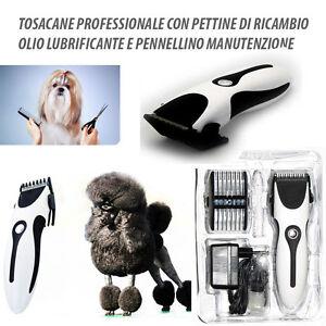 TOSATRICE TOSACANE CANE GATTO TOSATORE ANIMALI PROFESSIONALE PETTINE DI RICAMBIO