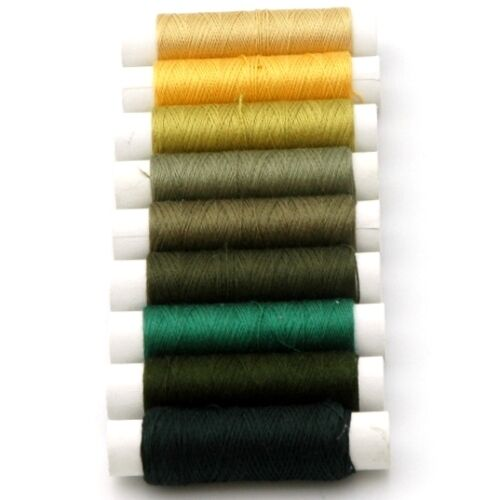 Weaving Hand Machine Sewing 9 x 50m Spools Pure Real Silk Embroidery Thread