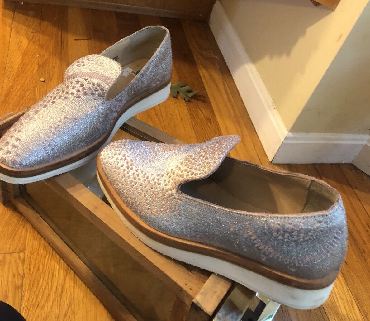 Free People Pelle Sporty Wedge Inside Pelle People Outside Fabric Comfy Sz 8 9dc624