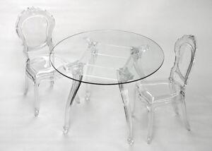 Sedie Di Plastica Trasparenti : Sedie in policarbonato belle epoque stile barocco in trasparente