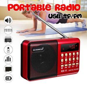 Mini-Radio-Portable-FM-Receiver-Haut-Parleur-18650-Batterie-USB-Chargeur-Cable