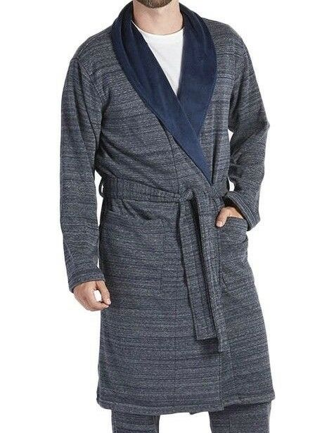 UGG Australia Men s Robinson Shawl Collar Plush Bath Robe Blue M l for sale  online  13d1b79be