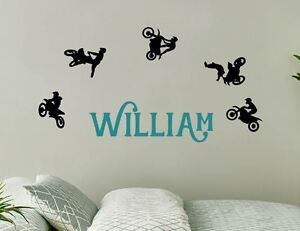 Attractive Image Is Loading Set Of 5 Dirt Bike Wall Sticker Name  Part 13