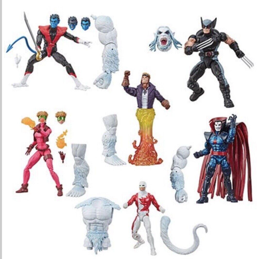 Marvel Legends X-Force Wave  Wendigo BAF Set Of 6 Nightcrawler Dinged Box  magasin de gros