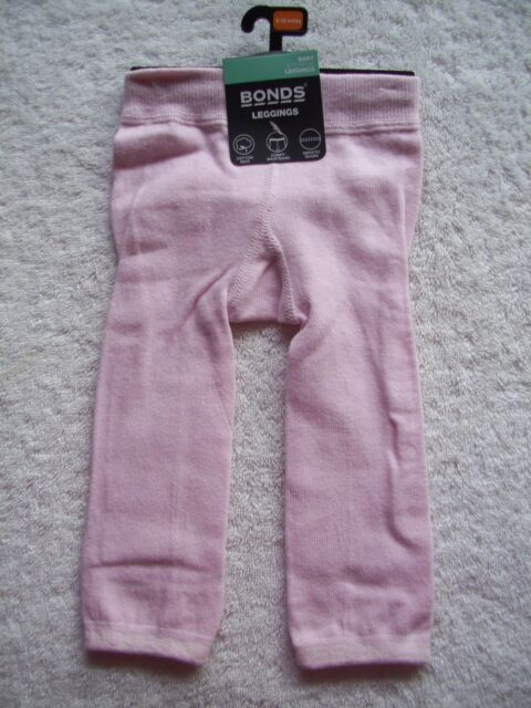 adb46d6ff BNWT Baby Girl's Bonds Pink Footless Tights/Leggings Size 0 6-12 Months