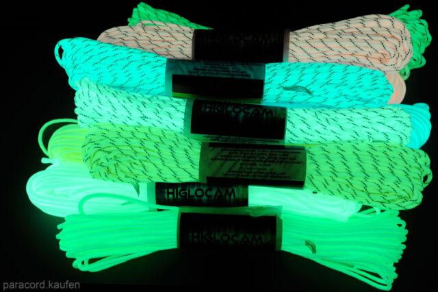 Original Paracord von 550lb fluoreszierendes reflektierenden Fallschirmleine