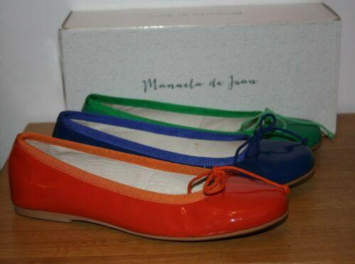Mannela De Juan Womens Patent Leather Flat Shoes Various Sizes /& Colours BNIB
