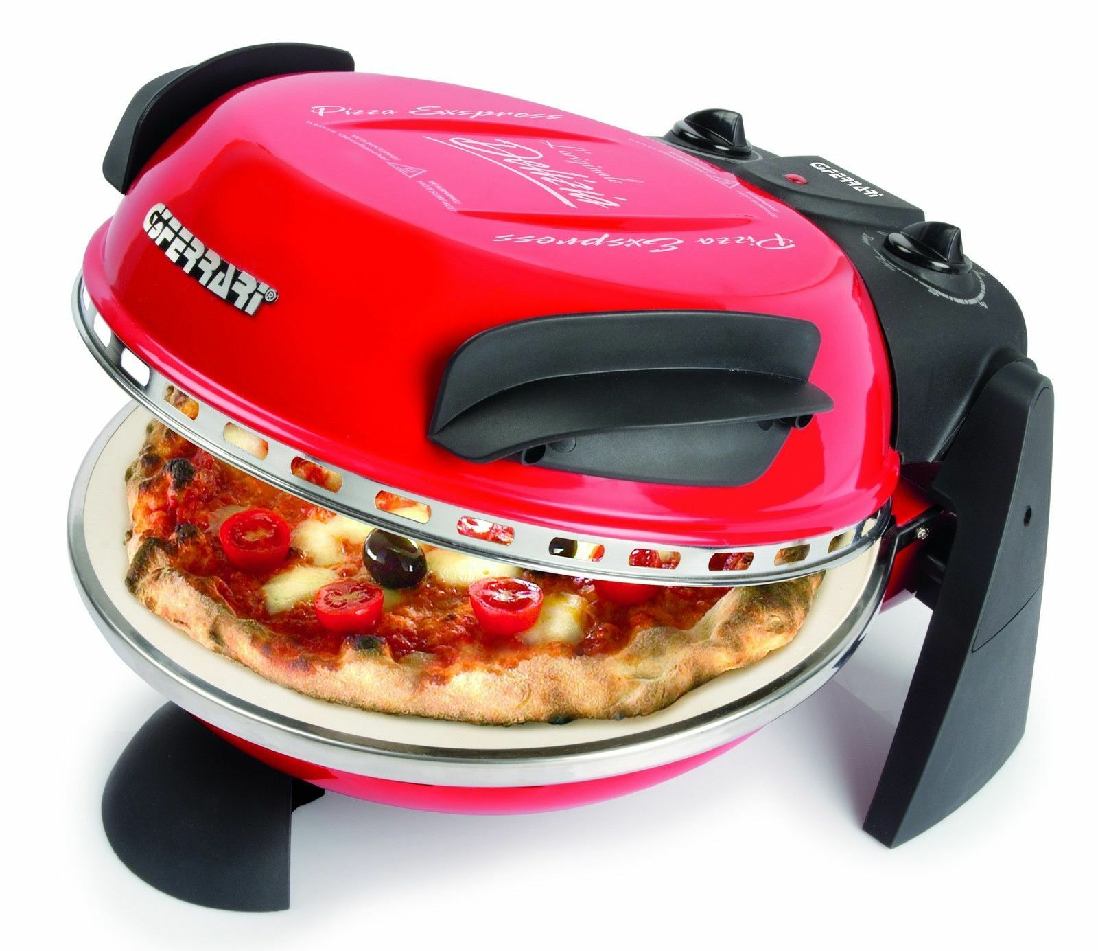 G3 Ferrari Pizza Oven Pizza Maker Express  Pizza in 3 min. finished rouge nouveau